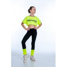 """Футболка для девочек """"Я в танцах"""" limon"""