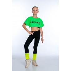 """Футболка для девочек """"Я в танцах"""" green"""