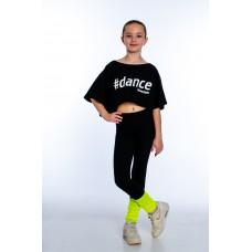 """Футболка для девочек """"Dance"""" black"""