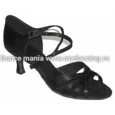 1. Танцмастер 1410 Black Туфли женские  для латиноамериканской программы