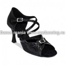 1. Танцмастер 163 Black Туфли женские  для латиноамериканской программы