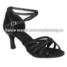 1. Танцмастер 171 Black Туфли женские  для латиноамериканской программы