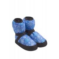 Сапожки разогревки Синие снежинки