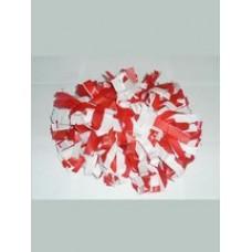 Помпон красный с белым