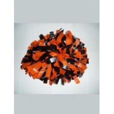Помпон оранжевый с черным