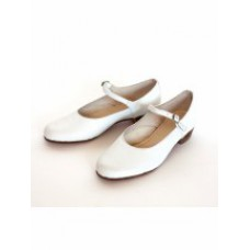 Туфли народные белые