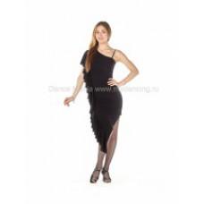 Платье для латины с воланом